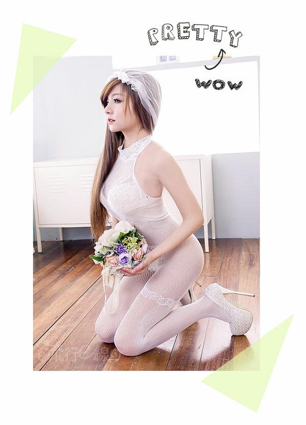 情趣內衣褲 性感削肩洞洞貓裝式性感內衣褲~流行E線B8011 5