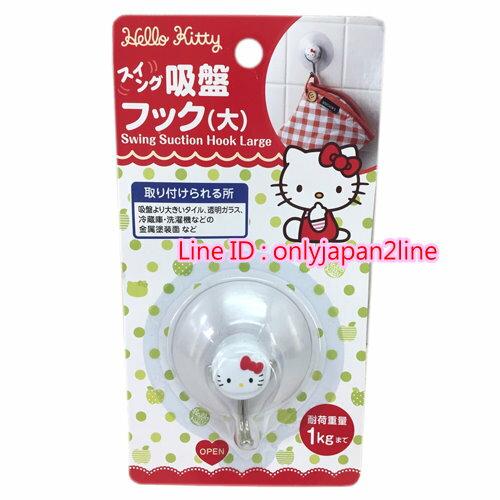 【真愛日本】16100700024強力大吸盤-KT頭白  三麗鷗 Hello Kitty 凱蒂貓 居家 掛勾 日本帶回