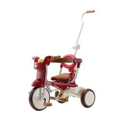 日本 iimo #02 兒童三輪車(折疊款-紅色)~總代理公司貨 升級款