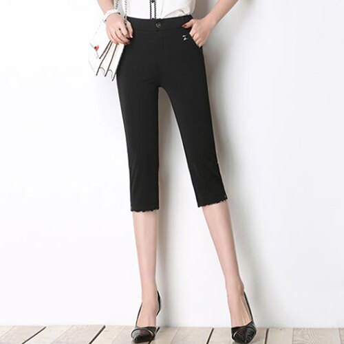 高腰彈力顯瘦直筒褲(3色27-35)【OREAD】 2