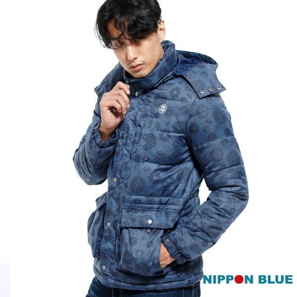 【專櫃新品免運↘】日本藍五輪家徽絲棉外套-BLUEWAYNIPPONBLUE日本藍