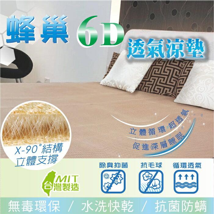 【多規格】蜂巢6D透氣床墊(抗菌防螨超透氣)