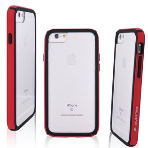 Miravivi:zeusarmor宙斯鎧甲波塞頓系列iPhone6PlusiPhone7PlusiPhone8Plus(5.5吋)共用耐撞擊雙料防摔殼_紅