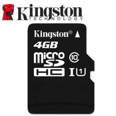 Kingston 金士頓 4GB microSDHC TF UHS-I U1 C10 記憶卡