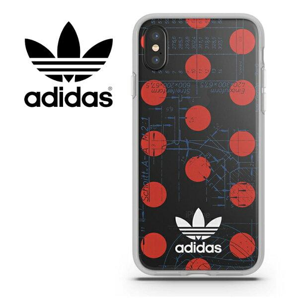 TIS 購物館:adidasOriginalsOR-70's復古紅點5.8吋iPhoneXiX背蓋手機套保護套手機殼29206TIS購物館