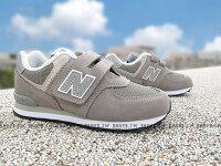 New Balance 美國慢跑鞋/跑步鞋推薦《下殺6折》Shoestw【YV574GG】NEW BALANCE 574 童鞋 運動鞋 中童 灰銀白 黏帶
