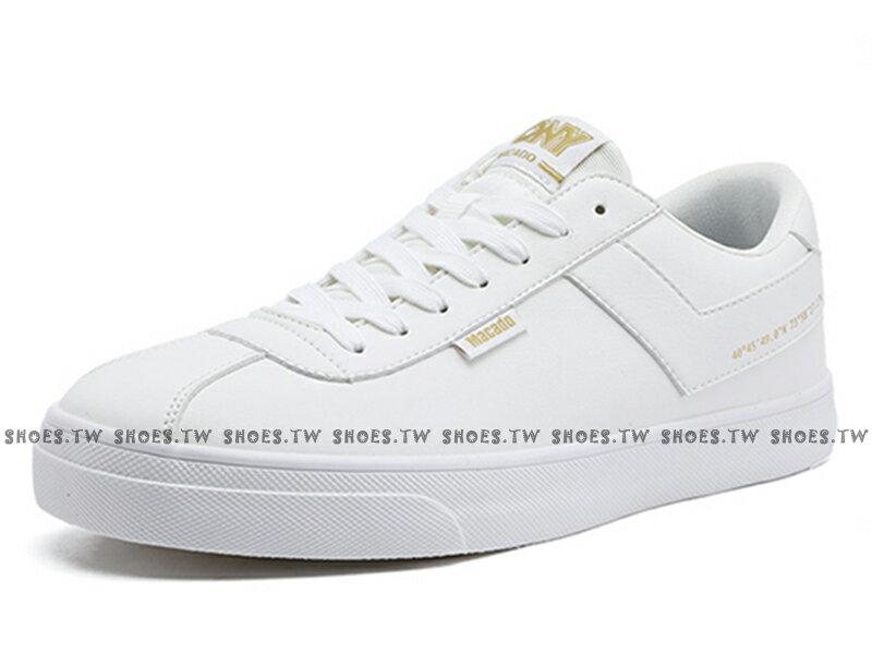Shoestw【83M1MC01RW】PONY Macado 板鞋 休閒鞋 皮革 白金 男生 蔡依林 周筆暢 雙后代言 1