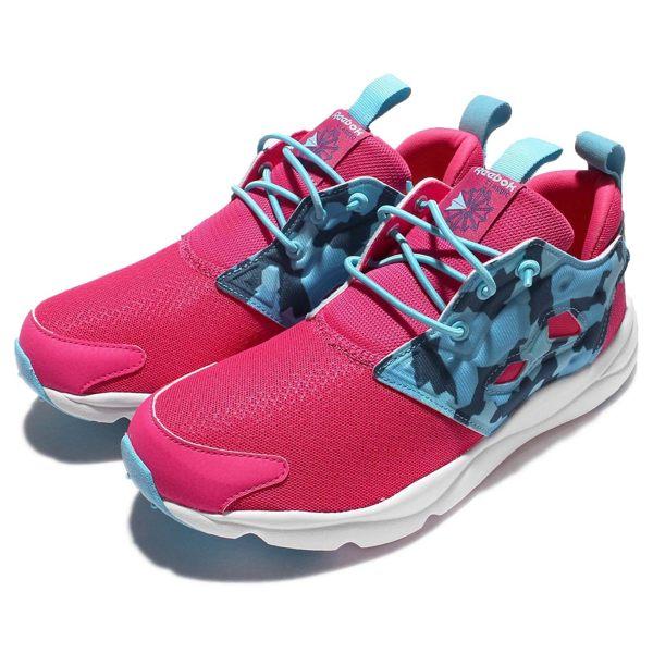 REEBOK FURYLITE 女鞋 大童 休閒 慢跑 粉藍 粉紅 【運動世界】 AR2058