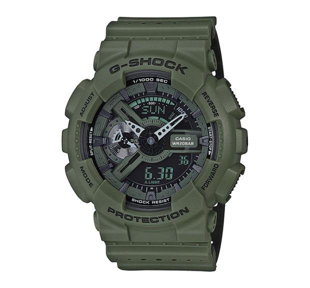 ~錶飾 ~卡西歐CASIO G~SHOCK 風GA~110LP~3A~墨綠 網眼透氣錶帶