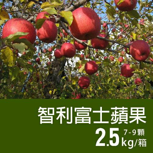 【築地一番鮮】智利富士蘋果(7-9顆/2.5kg禮盒)▶全館滿499免運
