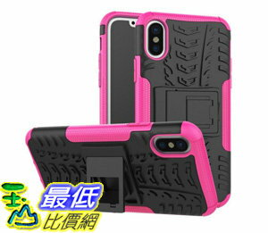 [106美國直購] 手機保護殼 iPhone X Case, High Impact Protection Kickstand Shockproof Clip Holster Case Cove