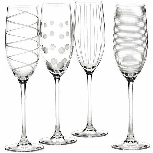 《CreativeTops》Mikasa紋飾香檳杯4入(250ml)