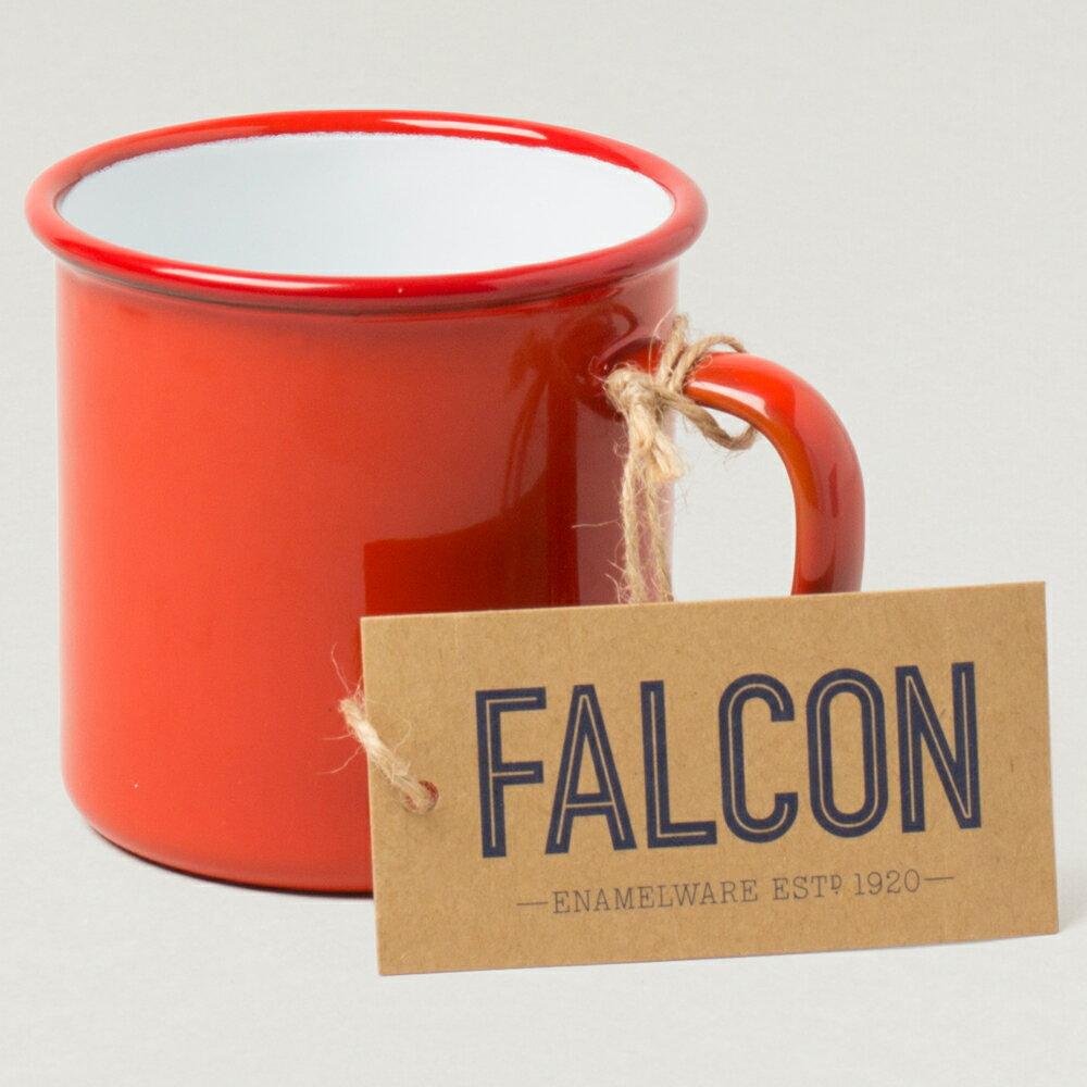 【英國Falcon獵鷹琺瑯】馬克杯 茶杯 水杯 琺瑯杯 350ml 紅白 -618年中慶