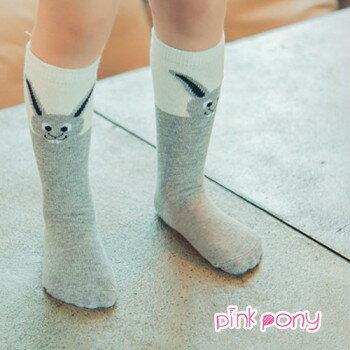 【Pink Pony】棉質可愛長耳兔中筒襪/童襪(0-3歲)