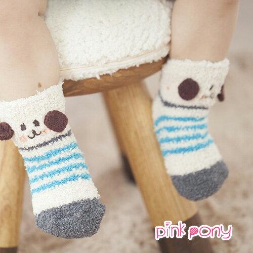 【Pink Pony】可愛立體刺繡珊瑚絨襪