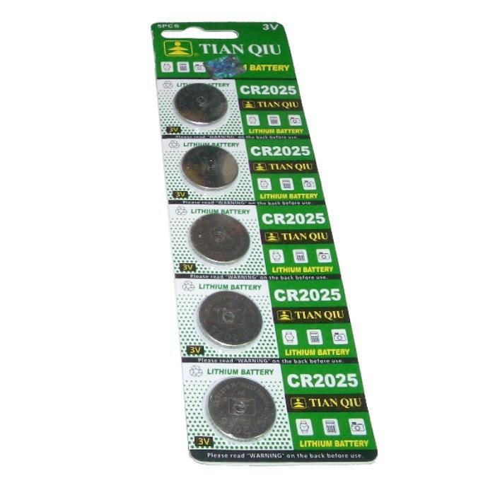 環保型鈕扣電池/水銀電池CR2025(一卡5顆)~不拆售【GU212】 123便利屋