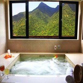 【烏來】雲頂溫泉 - 90分鐘 - 雙人景觀湯屋 (單床 + 大湯池) + 飲料