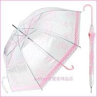 下雨天推薦雨靴/雨傘/雨衣推薦個人用品【asdfkitty】美樂蒂大人用雨傘/直立傘/透明傘-安全透視-59公分-日本正版