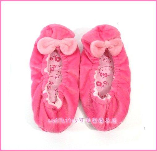 個人【asdfkitty可愛家】Kitty 絨毛室內鞋/保暖鞋-2009年絕版正版商品-展示品出清