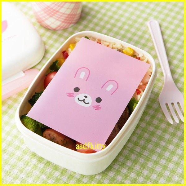 asdfkitty可愛家☆日本msa熊貓.小兔.貓咪-便當抗菌紙/飯糰包裝紙-日本製