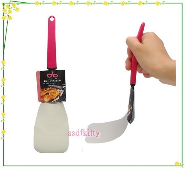 asdfkitty可愛家☆日本川嶋彈力鍋鏟-18-8不鏽鋼-輕薄-好煎好炒-可當餅乾鏟 -日本製