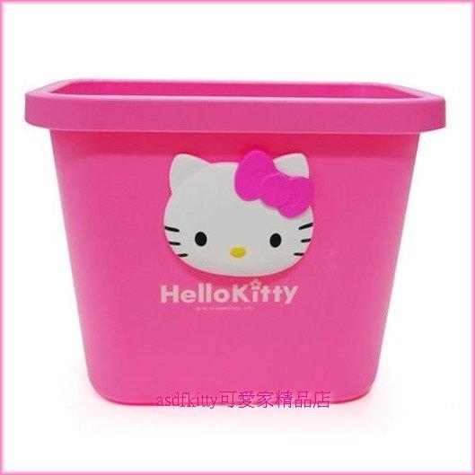家用【asdfkitty】kitty半立體臉型小型置物桶/收納筒/垃圾桶-收放襪子.梳子.髮圈...-韓國製
