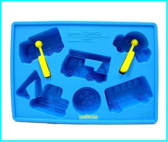 廚房【asdfkitty】TOMICA小汽車6連矽膠模型-可做巧克力.冰塊.果凍.手工皂.蛋糕-正版商品