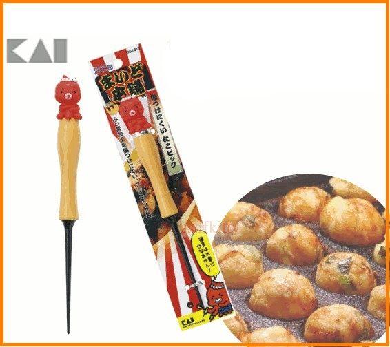 asdfkitty可愛家☆日本貝印-章魚造型多用途挑棒-鈍頭-章魚燒.雞蛋糕.紅豆餅都適用-日本製