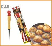 asdfkitty可愛家☆日本貝印-章魚造型多用途挑棒-鈍頭-章魚燒.雞蛋糕.紅豆餅都適用-日本製 0