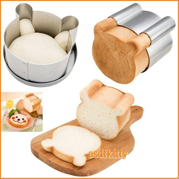 asdfkitty可愛家☆貝印Bready SELECT小熊吐司麵包烤模型-親子同樂-日本製