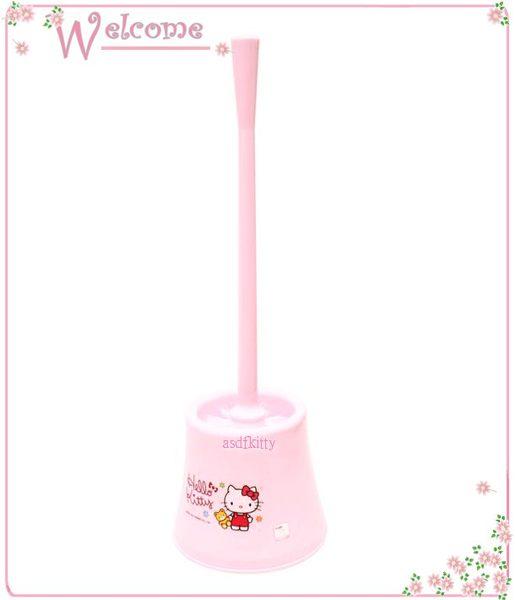 衛浴用品~asdfkitty可愛家~KITTY粉色小熊馬桶刷~底部有排水孔~韓國製