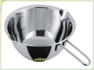 asdfkitty可愛家☆貝印 18-8不鏽鋼小鍋15公分-融巧克力.煮醬料.隔水加熱DF-1421-日本正版