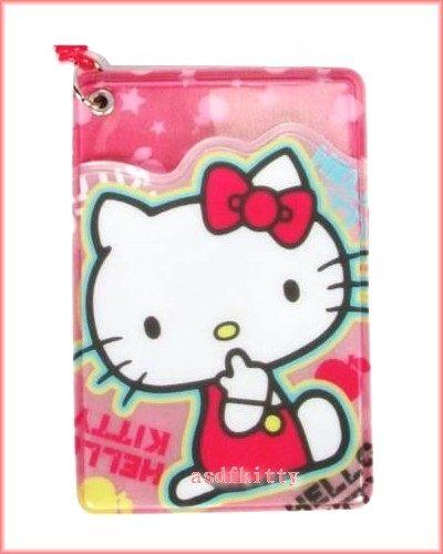 個人【asdfkitty】KITTY側坐伸縮鏈票卡夾-識別證/悠遊卡/姓名吊牌/行李箱/書包可用香港正版