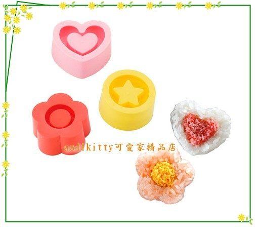 asdfkitty可愛家☆貝印愛心花朵星星造型包餡飯糰模型-正版日本製