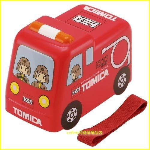 asdfkitty可愛家☆TOMICA小汽車-消防車雙層便當盒/救火車-日本正版商品