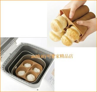 廚房【asdfkitty】貝印長4連矽膠模型-長條螺旋麵包-SD-BMS105T國際牌製麵包機可用