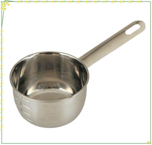 asdfkitty可愛家☆貝印18-8不鏽鋼量杯/可平站當攪拌碗-混合蛋.水液體-可隔水加熱-200ML-正版