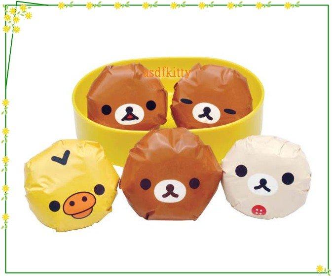 asdfkitty可愛家☆懶懶熊/拉拉熊懶妹小雞圓球飯糰包裝紙-方便拿取食用-日本製