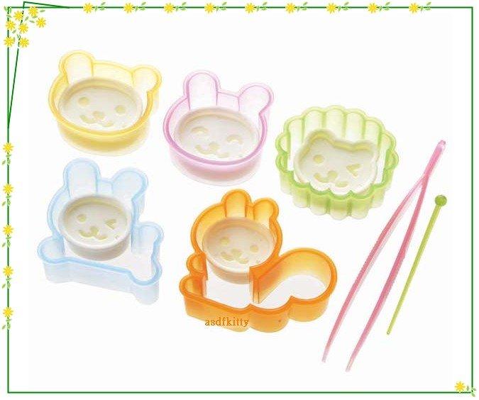 廚房【asdfkitty】日本msa松鼠獅子小兔表情壓模-可壓起司.蛋皮.蔬果.餅乾-日本正版商品