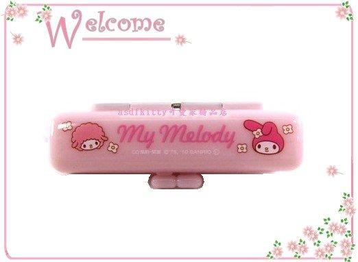 asdfkitty可愛家☆美樂蒂印章盒-小綿羊-有印泥歐-日本正版商品全新