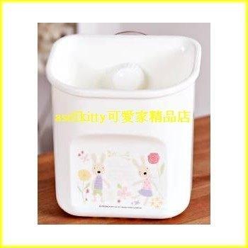 衛浴【asdfkitty可愛家】法國兔吸盤置物架-可放牙膏.梳子.牙刷-韓國製