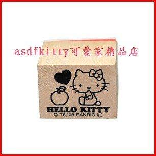 asdfkitty可愛家☆KITTY蘋果橡皮章/印章-大-日本正版