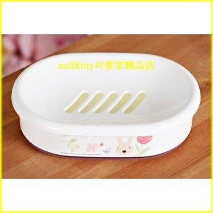 衛浴【asdfkitty可愛家】法國兔肥皂盤/香皂架-有接水盤歐-韓國製