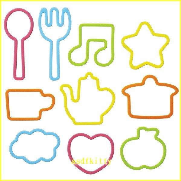 廚房【asdfkitty可愛家】造型矽膠束口環/橡皮筋-可綁零食袋/塑膠袋/青菜-日本msa正版商品