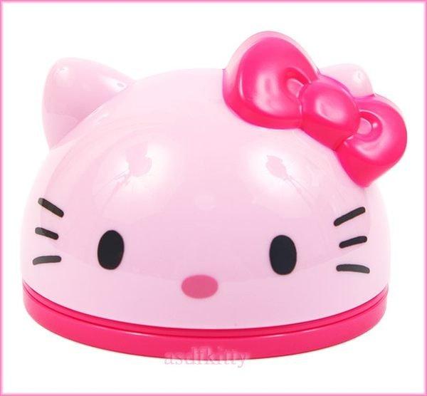 文具【asdfkitty】KITTY粉紅色大臉造型置物盒附便條紙-放戒指.糖果.飾品當禮物盒-歐美版正版