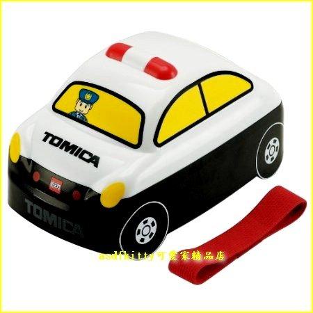 asdfkitty可愛家☆TOMICA小汽車-警車雙層便當盒-日本正版商品