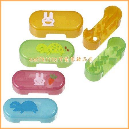 asdfkitty可愛家☆日本MSA香腸/熱狗切模-龜兔賽跑=烏龜+小白兔-裝飾便當-日本正版商品