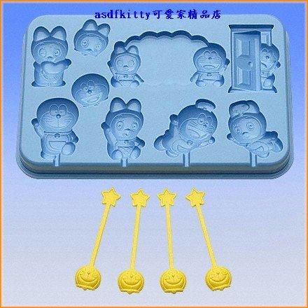 asdfkitty可愛家☆日本BANDAI哆啦A夢巧克力模型-可做果凍-日本製