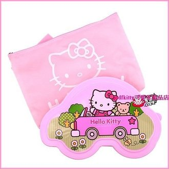 廚房【asdfkitty】kitty粉色汽車造型有蓋不鏽鋼餐盤便當盒附外出袋-韓國製