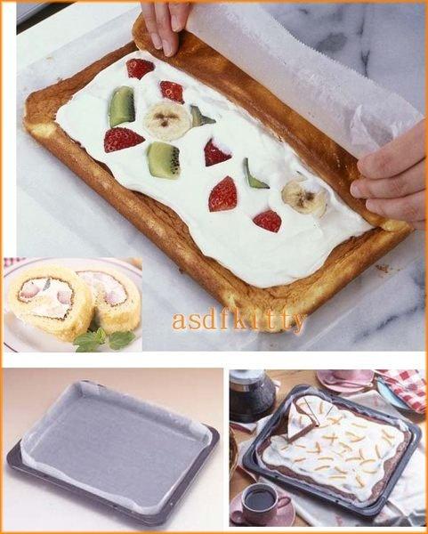 asdfkitty可愛家☆ 日本CAKELAND長方形烤盤/蛋糕捲/餅乾麵包內吋25*29公分-日本製